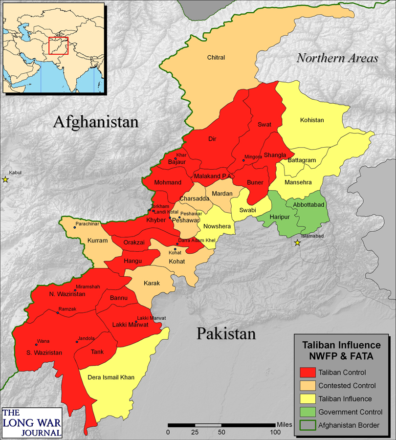 Image result for South Waziristan, map