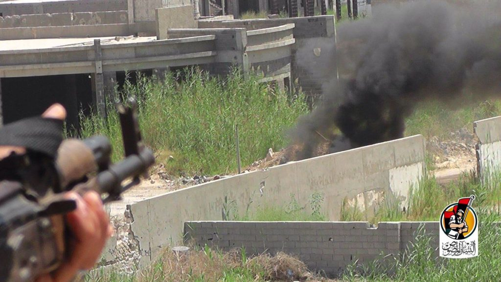 16-08-16 Fighters advancing in Residential neighborhood 2 1