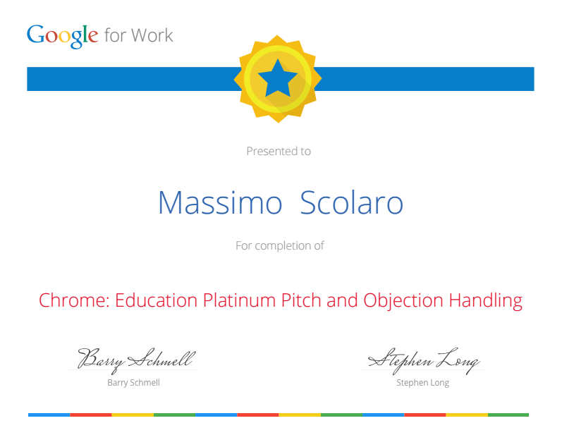 Chrome Eduction Platinum Pitch and Objection Handling