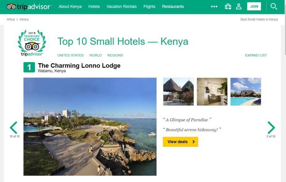 tripadvisor travellers choice Kenya