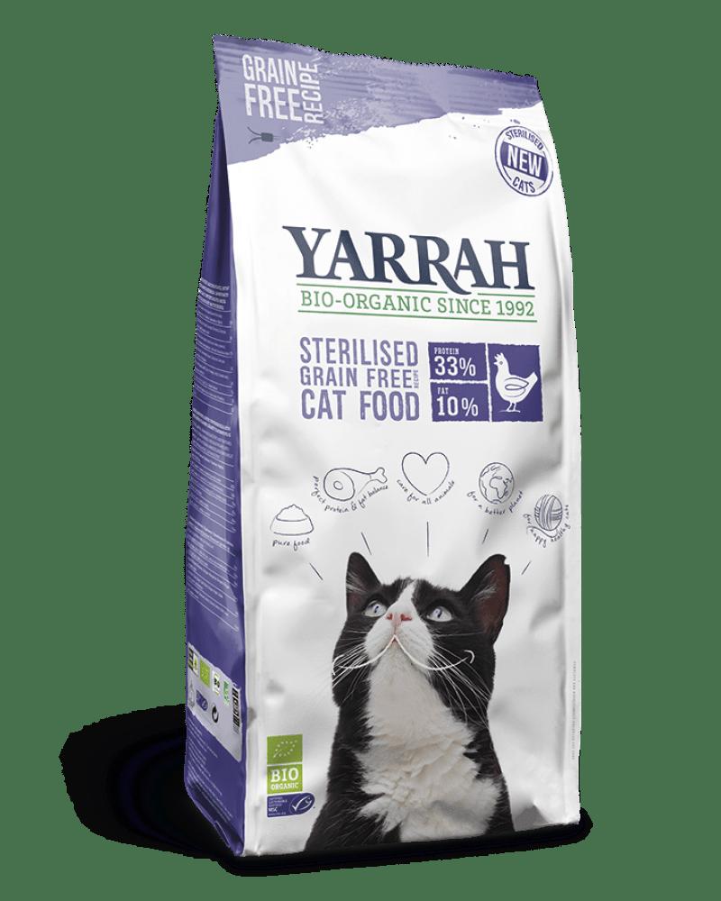 Orgaaniline kuivtoit steriliseeritud kassile YARRAH 2KG