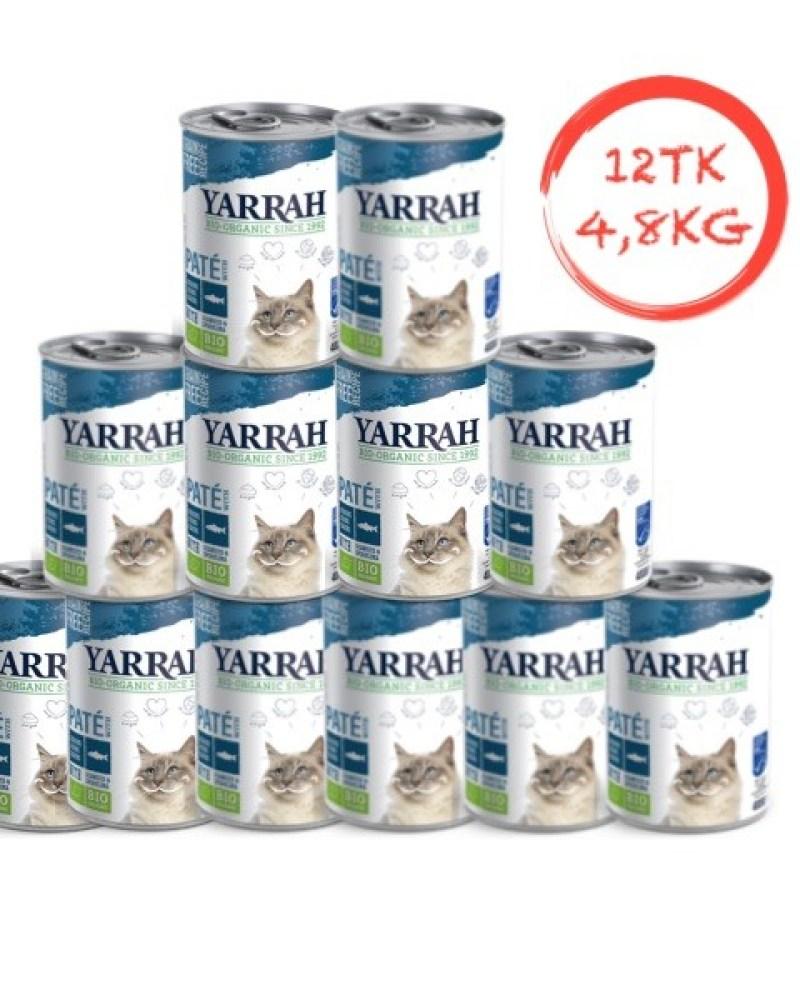 Orgaaniline kassikonserv kalaga YARRAH 12x400g (plokk)