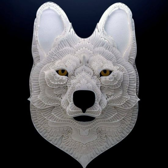 Beautiful Cut Paper Portraits Of Endangered Animals Around The World