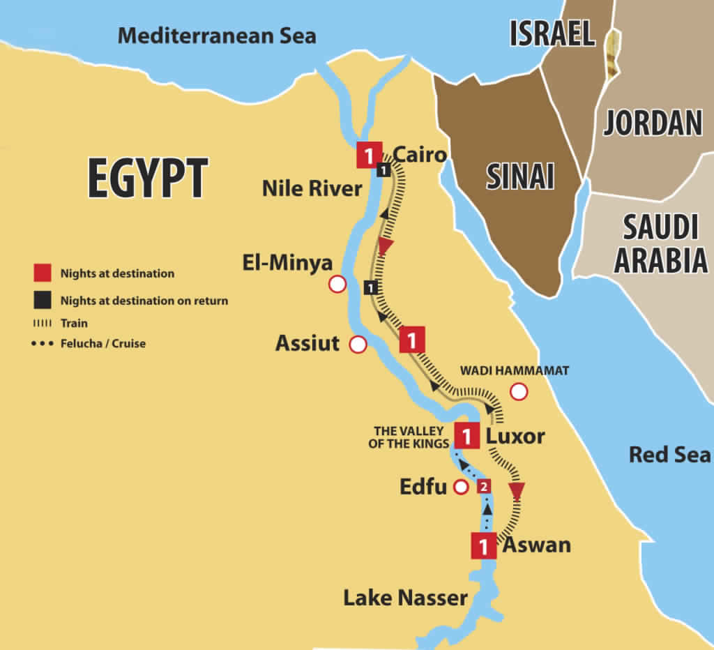 Cruise Egypt Road Map