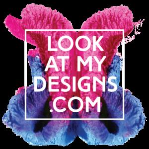 LookAtMyDesigns.com logo color rorscharch