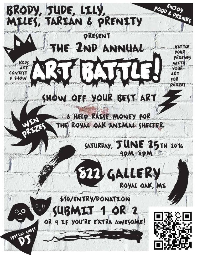 Art Battle Flyer