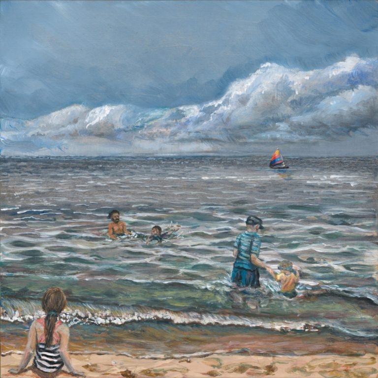 """Image of a Painting by Steve Miller titled, """"A Day At Douglas Beach""""."""