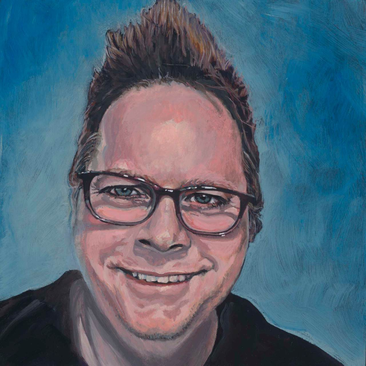 Self portrait of the artist.