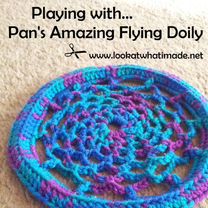 Pan Perkins Amazing Flying Doily Frisbee Small Grandma Perkins Flying Doily Crochet Pattern