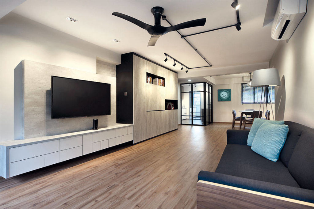 A 30 Year Old Flat Gets A Sleek Industrial Style Makeover Lookboxliving