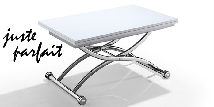 Look Coco Table Basse Relevable Et Extensible