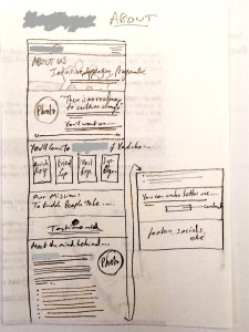 website copy sketch