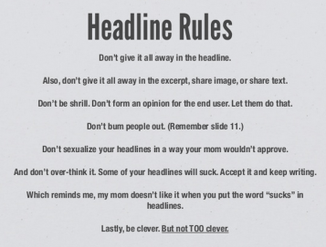headline rules