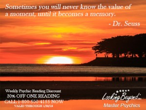 Value Of A Moment - Looking Beyond Master Psychics