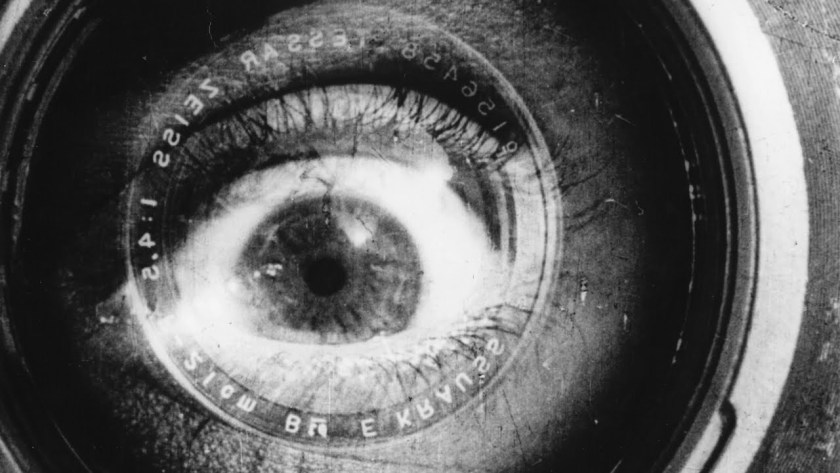 man with movie camera - eye