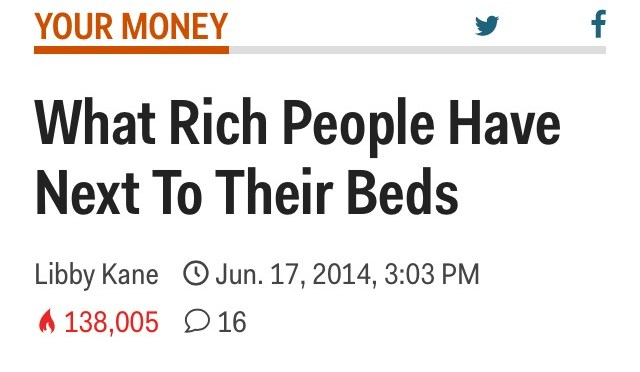 Rich people read self-improvement books