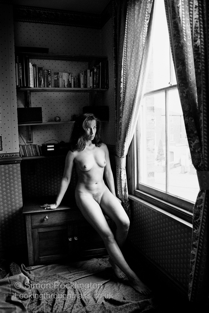Personnal Space Black and white nude portraits of woman at home