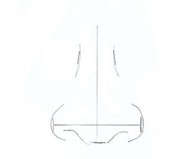 Как нарисовать нос человека, шаг 3