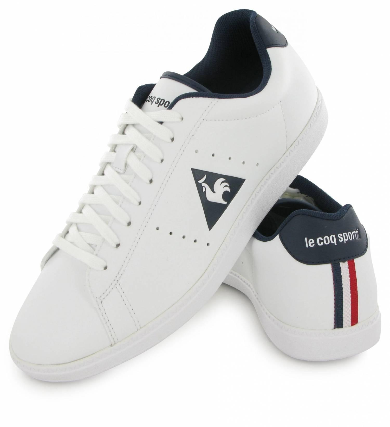 Le Coq Sportif Courtone S Leather White & Blue