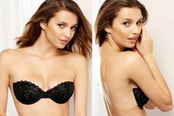 8 Types of Bras to wear for backless dresses   LooksGud in Backless Strapless Bra with Floral Lace and Silicone Cups