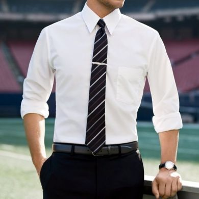 Men s Guide to Perfect Pant Shirt Combination   LooksGud in white shirt with black pant  white shirt goes well with Black pant  the ever