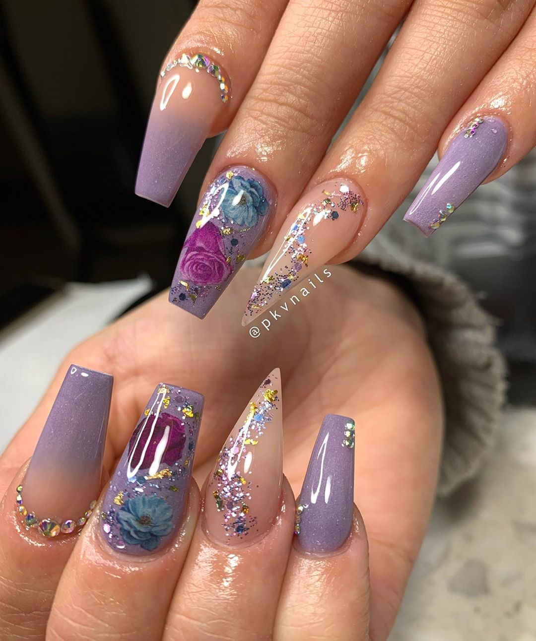 UPDATED: 30 Dazzling Rhinestone Nails for 2020 (August 2020)
