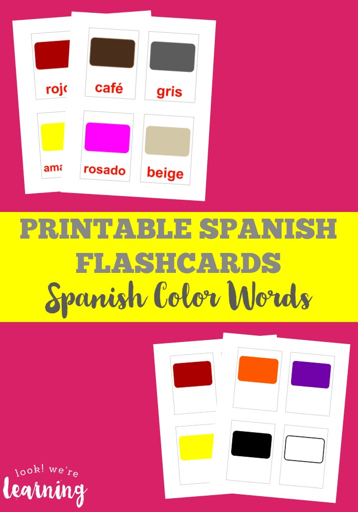 graphic relating to Spanish Flashcards Printable known as Free of charge Printable Spanish Colour Flashcards