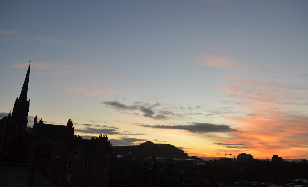 On the joy of first light: Edinburgh