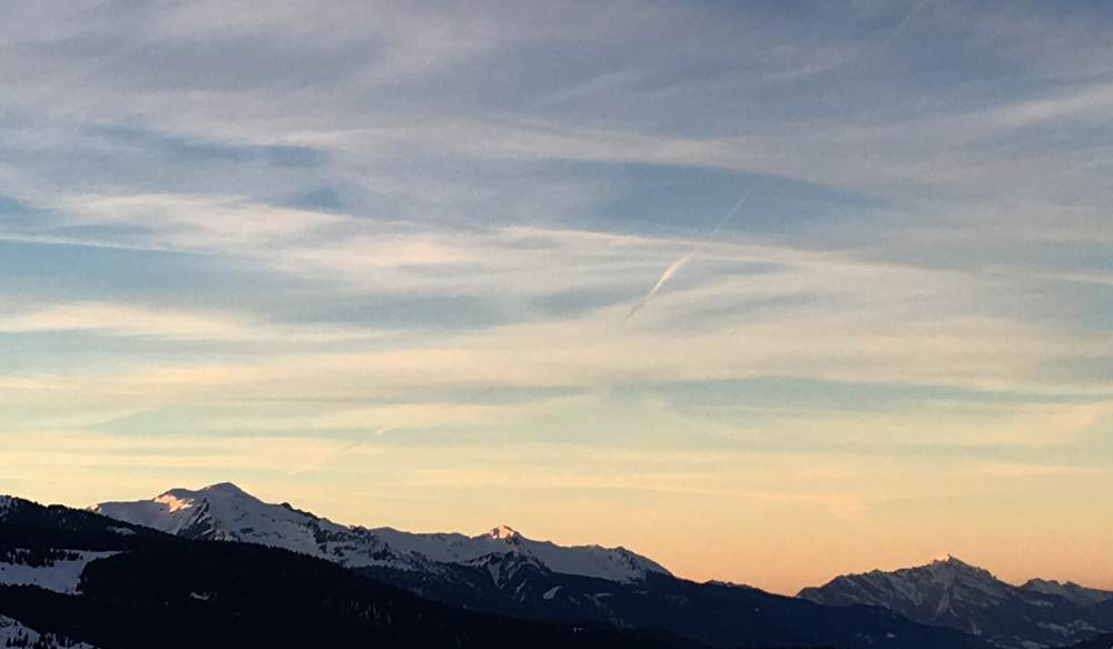 Meribel Sunset
