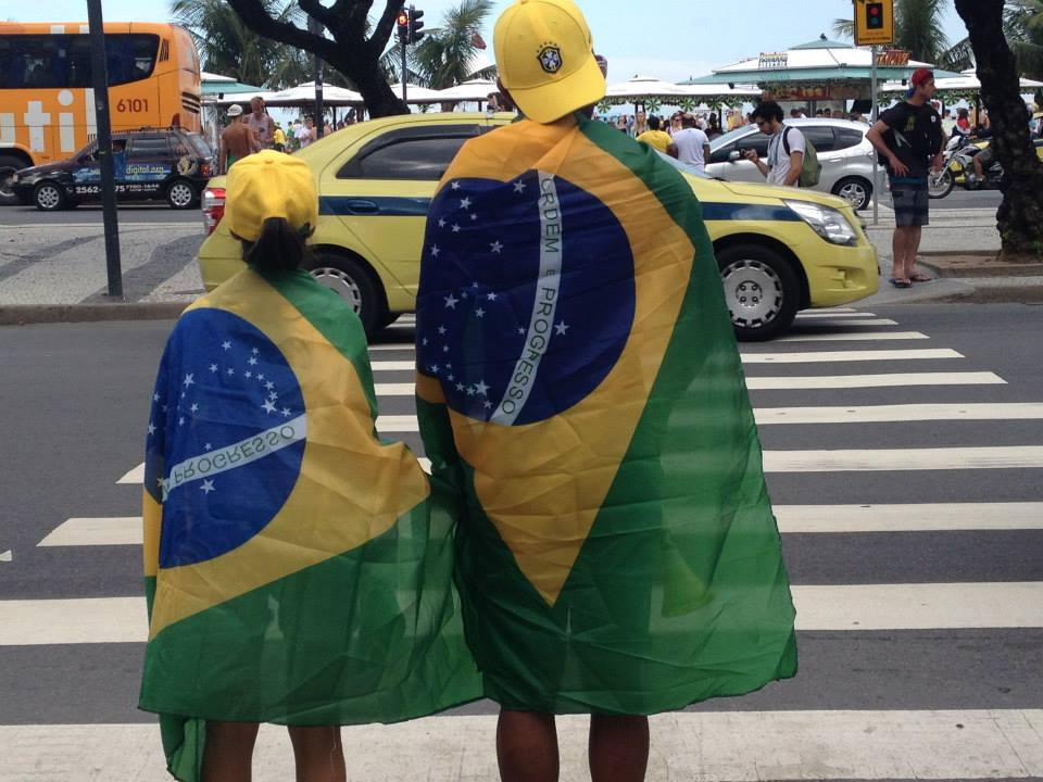 Brazil Fans in Rio 2014 World Cup