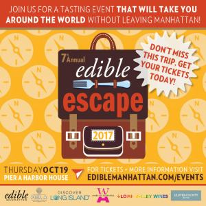 7th Annual Edible Escape Returns Oct 17th