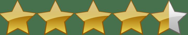 Image result for 4 1/2 stars