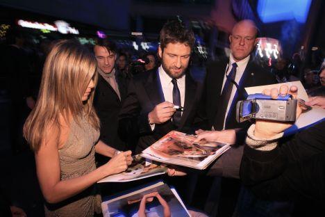 Jennifer Aniston und Gerard Butler bei der Premiere in Berlin - Kino