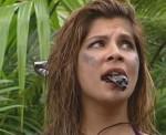 Dschungelcamp 2011: Indira Weis mit Kakerlake im Mund