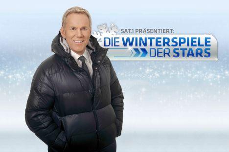 """""""Die Winterspiele der Stars"""" mit Natalia Wörner, Hannes Jaenicke, Johann Lafer, Anni Friesinger, Jimi Blue Ochsenknecht, Sandy Mölling - TV"""