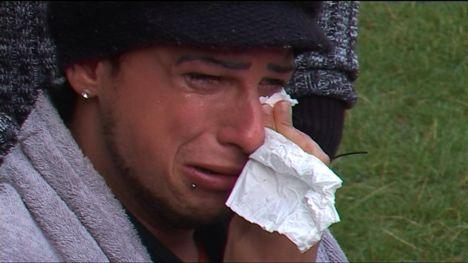 Benny Kieckhäben weint im Big Brother Haus