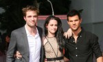 Kristen Stewart, Robert Pattinson and Taylor Lautner Hand and Footprint Ceremony at Grauman's Chinese Theatre in Hollywood on November 3, 2011