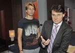 Dominik (Raul Richter, li.) fühlt sich bei Gerners (Wolfgang Bahro) Appell an seine Vernunft als Junkie abgestempelt.
