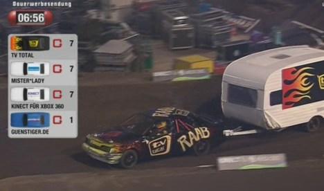 """Die Wohnwagen Premiere gewinnt Jürgen Milski bei der """"TV Total Stock Car Crash Challenge 2011"""" - TV News"""