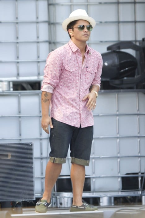 Bruno Mars 2011 MuchMusic Video Awards Rehearsal in Toronto on June 18 2011