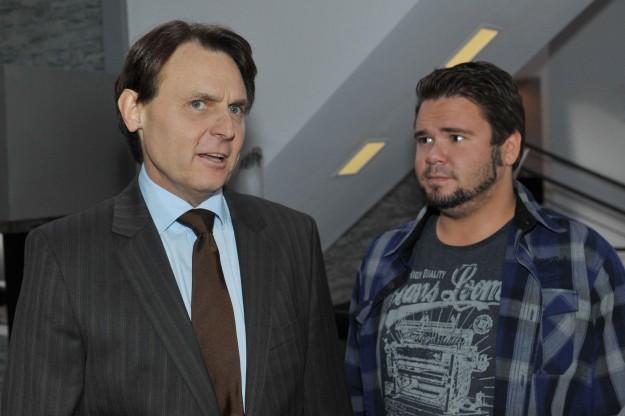 Tuner (Thomas Drechsel, re.) und Gerner (Wolfgang Bahro) bei GZSZ