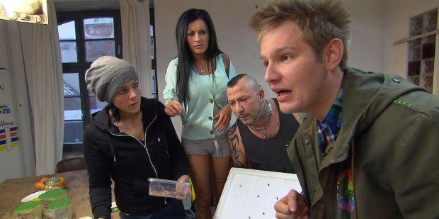 Alina, JJ, Fabrizio und Ole bei Berlin Tag und Nacht