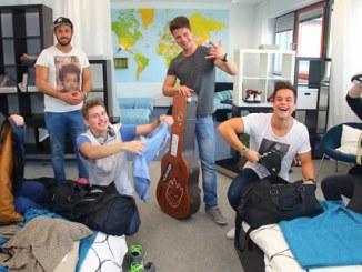 Christopher Schnell, Daniel Ceylan und der Fitness-Raum im DSDS-Loft - Promi Klatsch und Tratsch
