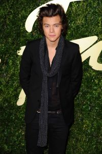 Harry Styles arrives for the British Fashion Awards 2013