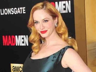 "Christina Hendricks - AMC's ""Mad Men"" TV Series Black & Red Ball Celebrating the Final 7 Episodes"