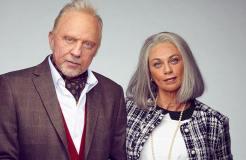 Boris Becker und Lilly als Greise im Fernsehen
