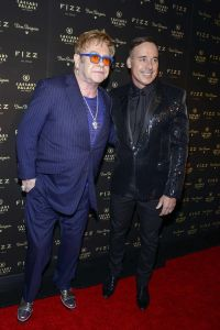 Elton John, David Furnish - Fizz Las Vegas Grand Opening and Sir Elton John's Birthday Celebration
