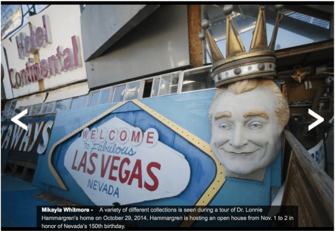 Dr. Lonnie Hammargren's Open House, Nevada Day. Credit: Image, Las Vegas Sun.
