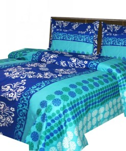 Cotton bedsheets 144TC Royal Blue Contemporary Print By Avioni