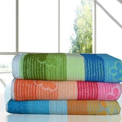 Cotton Bath Towels Light Weight Large (set of 3)